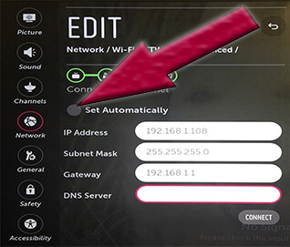 LG Smart TV webOS - DNS Server